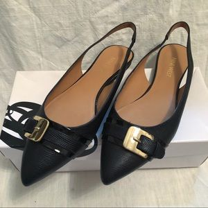Nine West Point flats with strap size 8